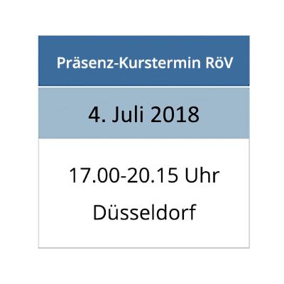 Strahlenschutzkurs am 04.07.2018 in Düsseldorf