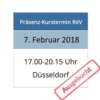 Strahlenschutzkurs am 07.02.2018 in Düsseldorf