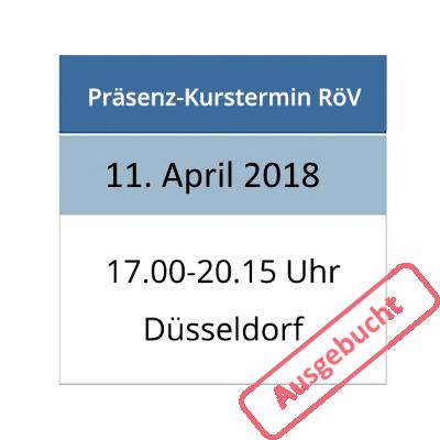 Strahlenschutzkurs am 11.04.2018 in Düsseldorf