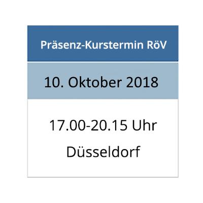 Strahlenschutzkurs am 10.10.2018 in Düsseldorf
