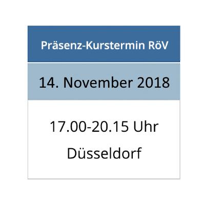 Strahlenschutzkurs am 14.11.2018 in Düsseldorf