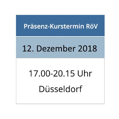 Termin für die Aktualisierung im Strahlenschutz am 12.12.2018 in Düsseldorf