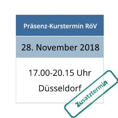 Strahlenschutzkurs am 28.11.2018 in Düsseldorf