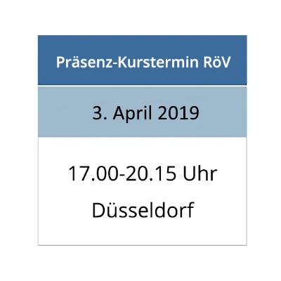 Strahlenschutzkurs am 03.04.2019 in Düsseldorf