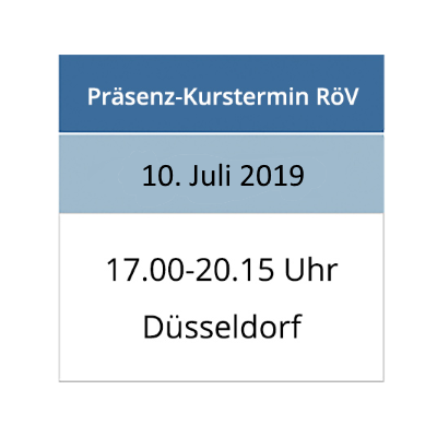 Strahlenschutzkurs am 10.07.2019 in Düsseldorf