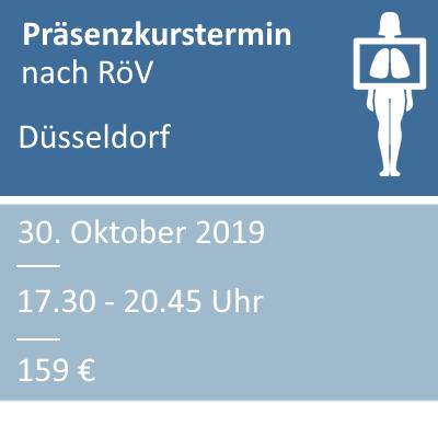 Strahlenschutzkurs am 30.10.2019 in Düsseldorf