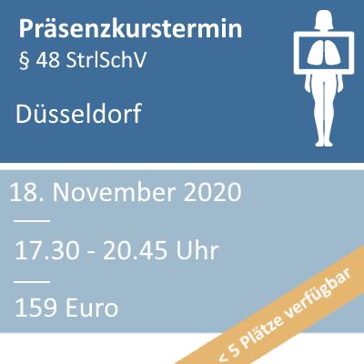 Strahlenschutzkurs am 18.11.2020 in Düsseldorf