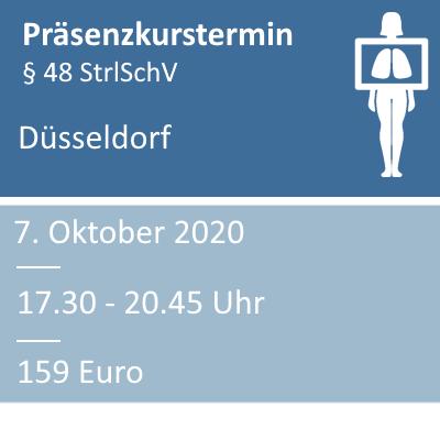 Strahlenschutzkurs am 07.10.2020 in Düsseldorf