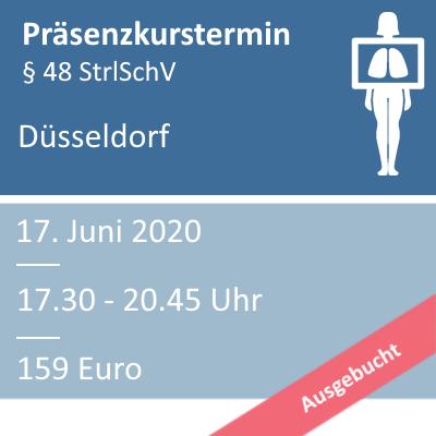 Strahlenschutzkurs am 17.06.2020 in Düsseldorf