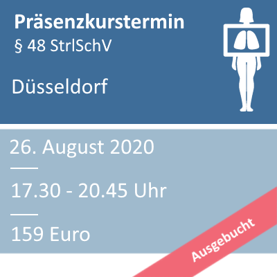 Strahlenschutzkurs am 26.08.2020 in Düsseldorf