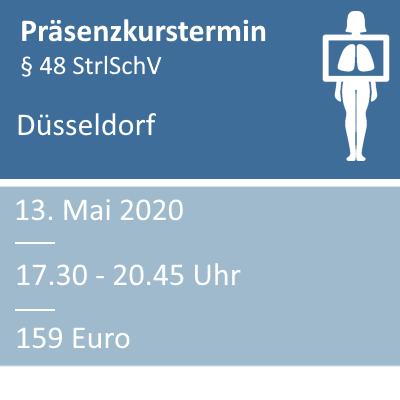 Strahlenschutzkurs am 13.05.2020 in Düsseldorf