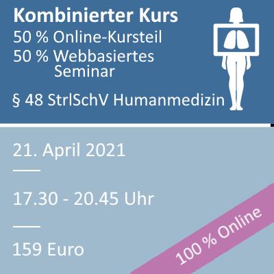 Strahlenschutzkurs am 21.04.2021 webbasiertes Seminar