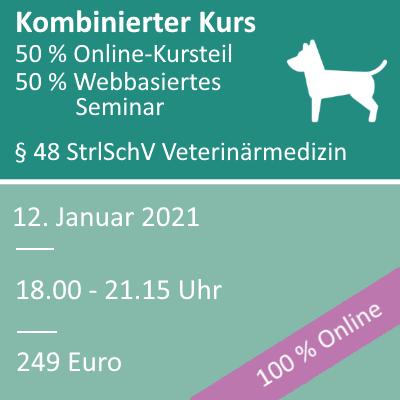 Strahlenschutzkurs in der Veterinärmedizin am 12.01.2021 webbasiertes Seminar