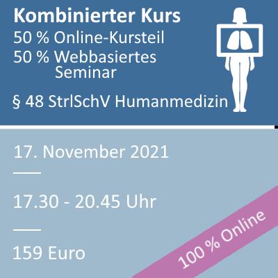 Strahlenschutzkurs am 17.11.2021 als webbasiertes Seminar