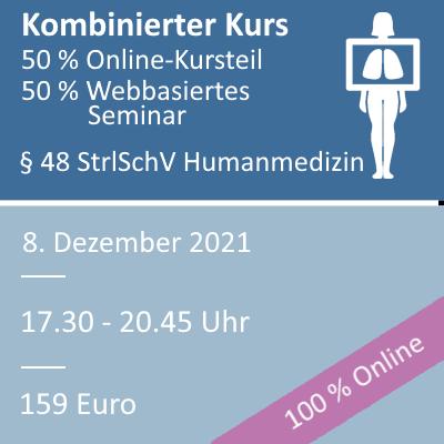 Strahlenschutzkurs am 08.12.2021 als webbasiertes Seminar